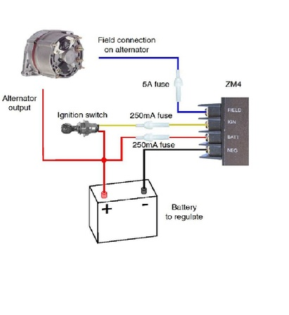 zm4 wiring overview smart alternator regulator rh smartregulator co nz Ford Alternator Wiring Diagram Jeep Alternator Wiring Diagram